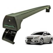 Rack Teto Bagageiro Cruze Hatch e Sedan Até 2015 Longlife Modelo Aluminio Preto