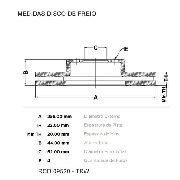 Disco Freio Dianteiro Hb20 1.6 16v Trw Rcdi09520