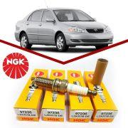 Jogo Velas Corolla 1.6 1.8 16v Gasolina Original Ngk BKR5EYA-11