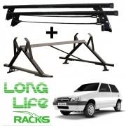Kit Rack Longlife + Porta Escadas Fiat Uno 2 Portas