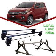 Kit Rack Longlife Steel+ Porta Escadas Fiat Mobi 4 Portas