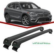 Rack Teto Bagageiro BMW X1 com Longarina Integrada 2013 Em Diante Longlife Sports Aluminio