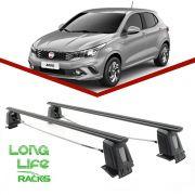 Rack Teto Bagageiro Fiat Argo Novo Uno 4 Portas LongLife Steel