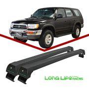 Rack Teto Bagageiro Hilux Sw até 2004 c/ trilho integrado Longlife Modelo Aluminio