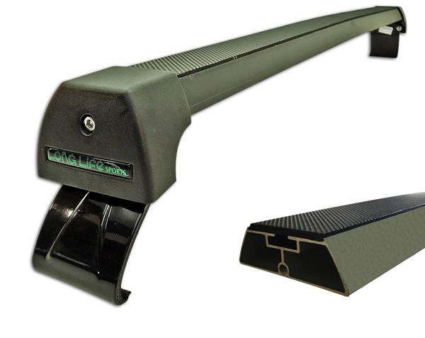 Rack Teto Bagageiro Fox 4 portas 2004 Em Diante Longlife Modelo Aluminio Preto