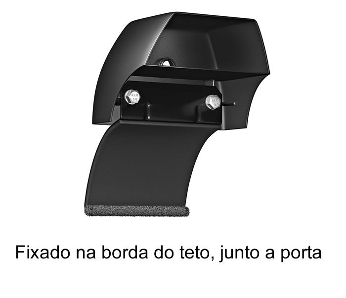 Rack teto Bagageiro Novo Uno 4 portas 2011 Em Diante Longlife Modelo Aluminio Preto