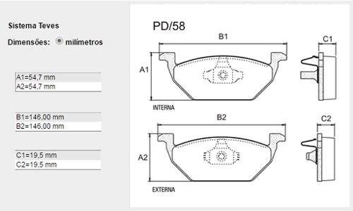 Kit Disco + Pastilha Freio Dianteiro Fox Spacefox Cros Bosch