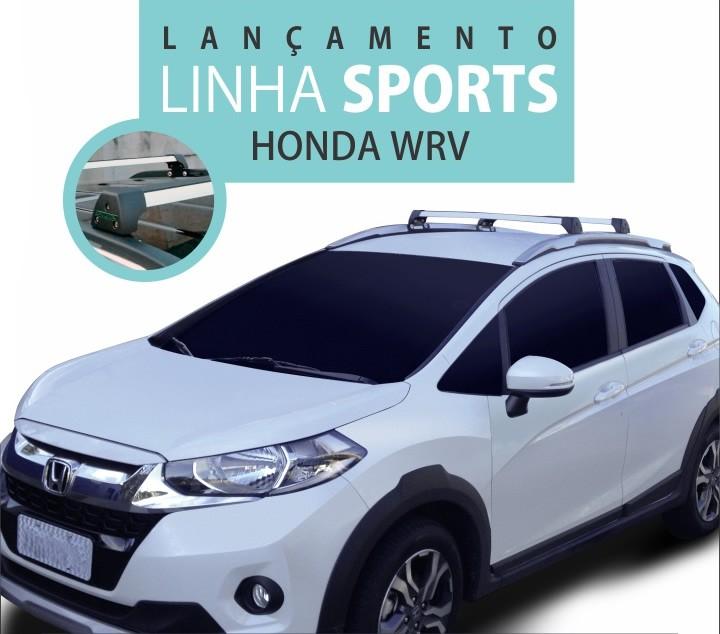 Rack Teto Honda WRV c/ longarina integrada Longlife Sports Aluminio