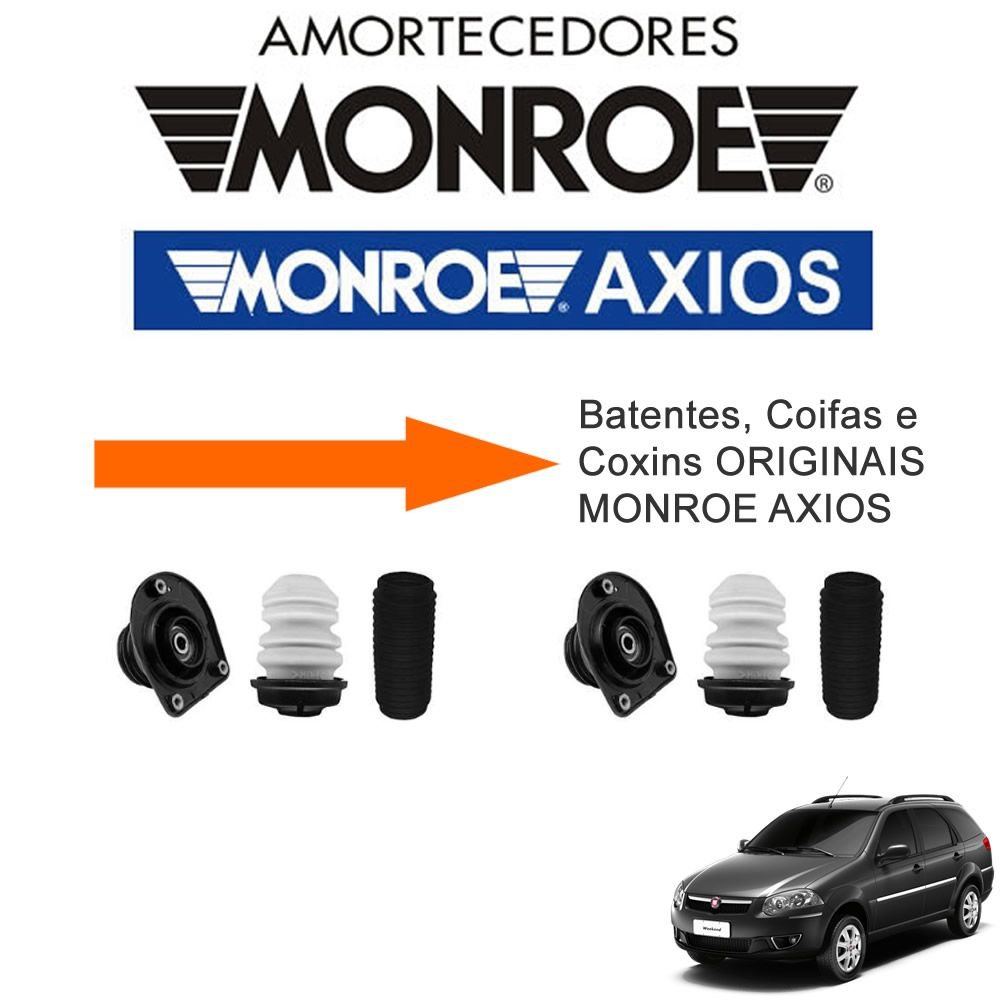 Kit 04 Amortecedores Palio Weekend + Kit Suspensao Monroe