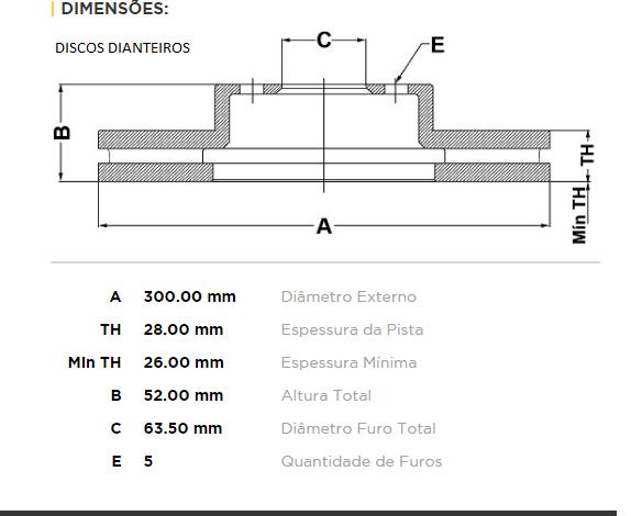 Kit Disco + Pastilha Dianteiro e Traseiro Freelander 2010 Em Diante
