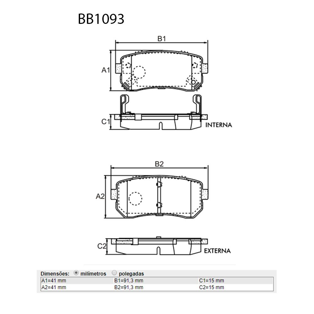 Kit Pastilhas Freio Dianteiro Traseiro Hyundai I30 Bosch