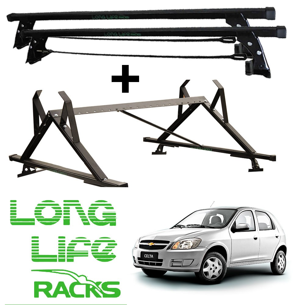 Kit Rack Longlife + Porta Escadas Celta Prisma 4 Portas
