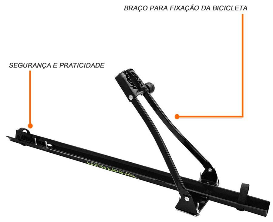 Kit Rack Teto + Transbike Longlife Palio Siena 4 Portas