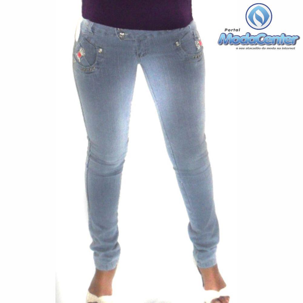 Calça Cigarrete Jeans Feminina Adulto - 054