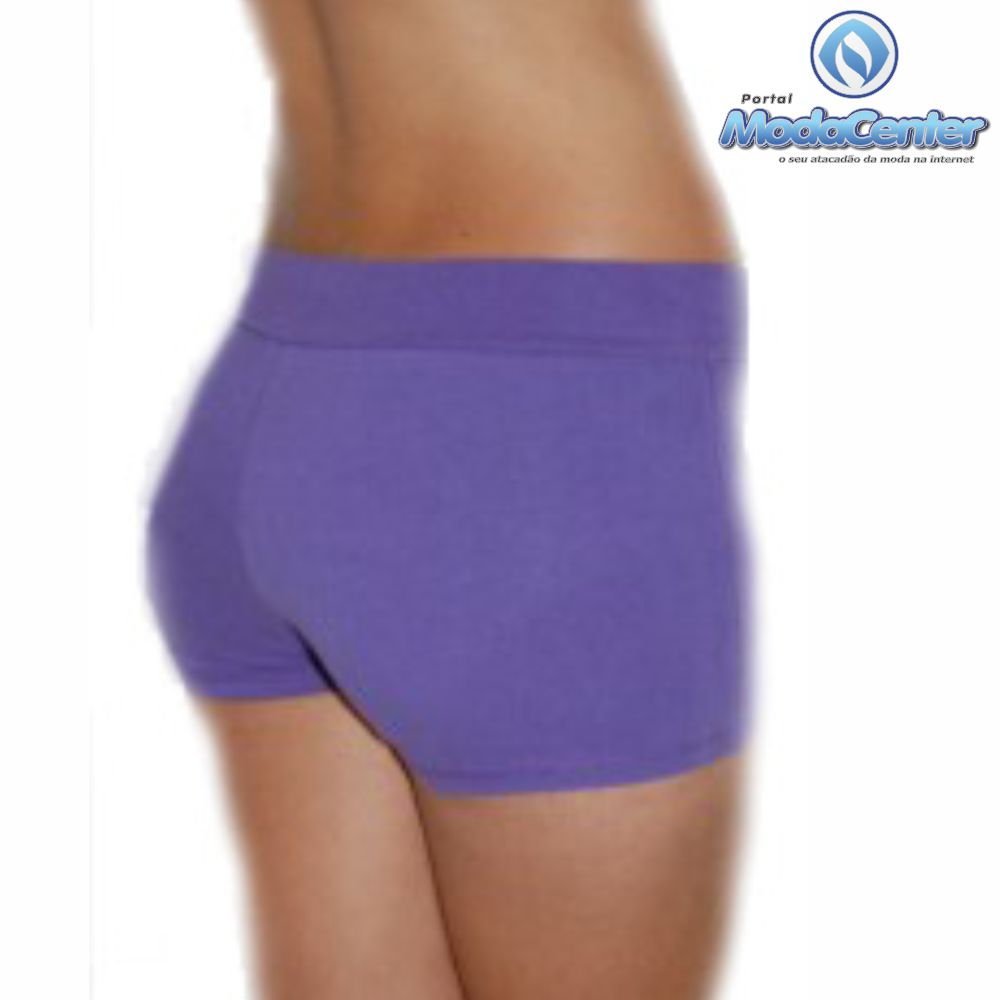 Short Cotton Curto Liso Fem Adulto - 044