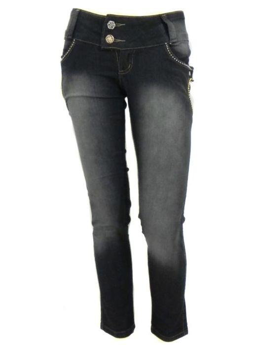 Calça Cigarrete Jeans Skinny Feminina Adulto - 219