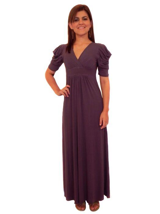 Vestido Mania Longo Liso Fem Adulto - 279