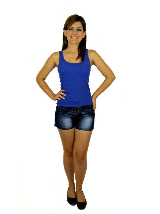 Short Jeans Meia Coxa Fem Adulto - 291