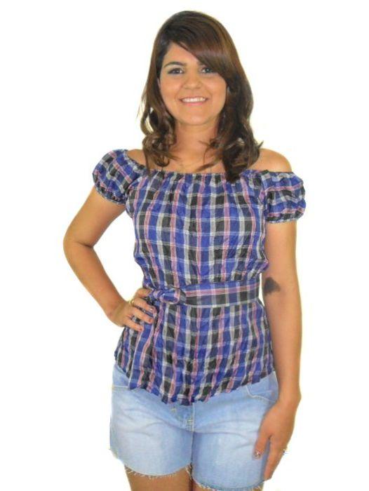 Blusa Marta Xadrez Feminina Adulto - 298