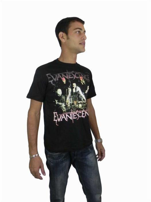 Camisa Rock Manga Curta Masculina Adulto - 183