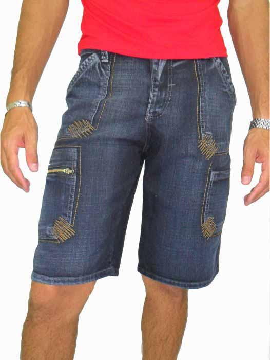 Bermuda Jeans  Masculina Adulto - 221