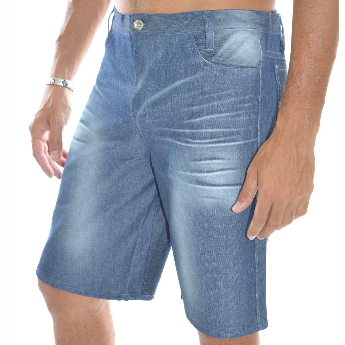 Bermuda Jeans Tradicional Masculina Adulto - 052