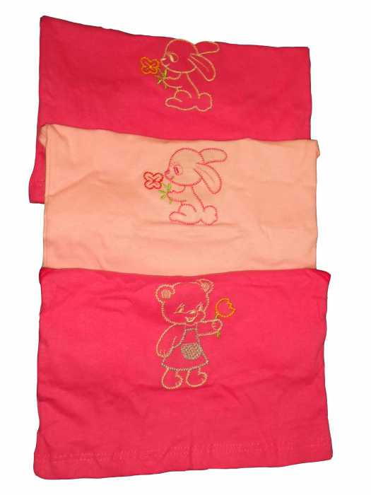 Kit Juliana com 3 Camisetas Femininas Infantil - 459