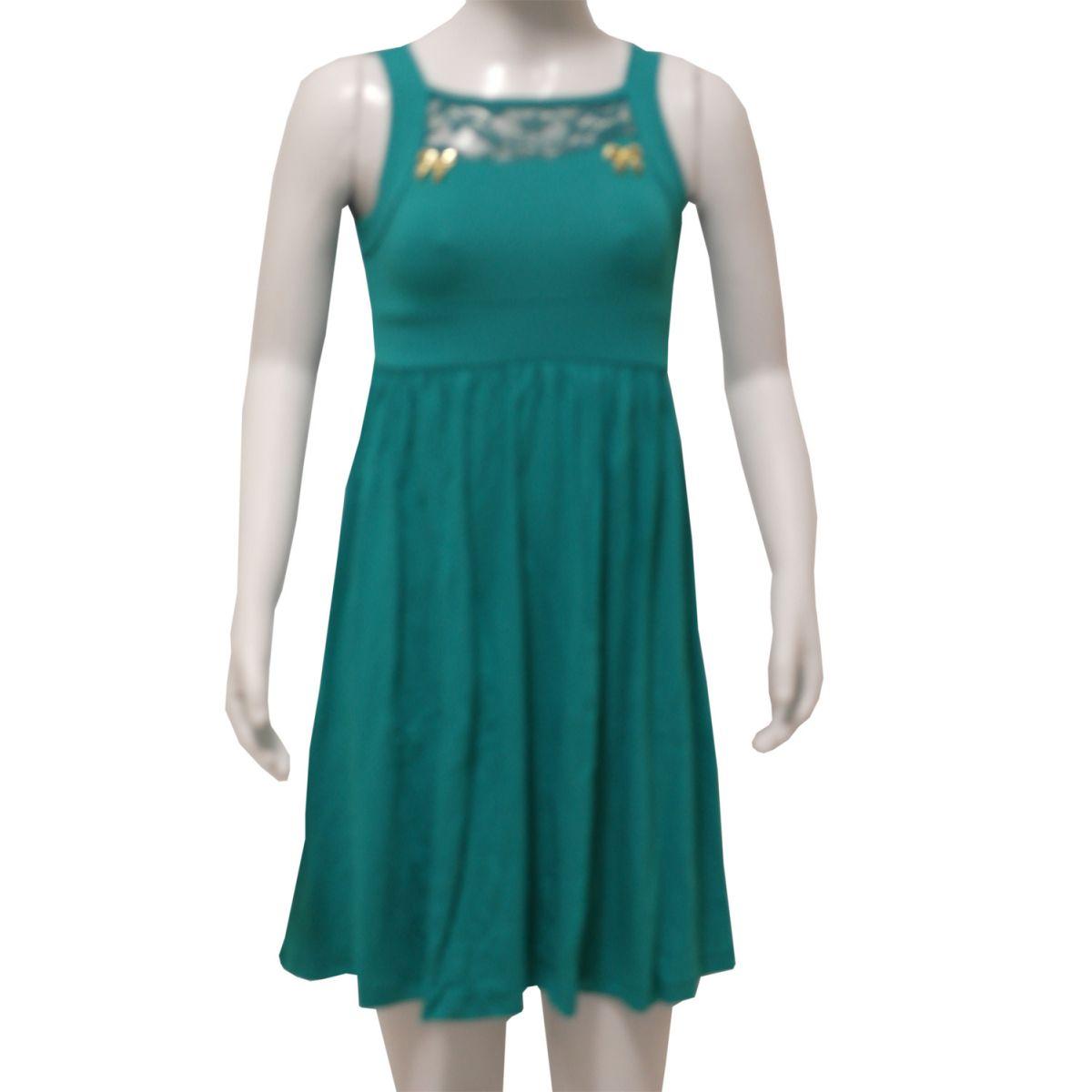 Vestido Juvenil Liso Fem. - 767