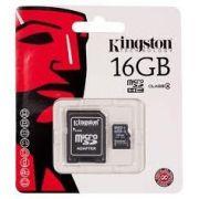 Cart�o De Memoria Original Kingston Microsd 16gb + Adaptador