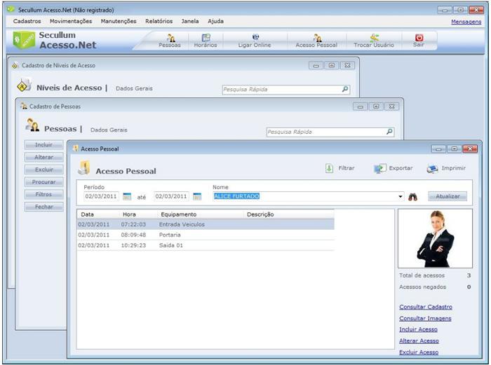 Software Acesso.Net Secullum  - Iponto Tecnologia