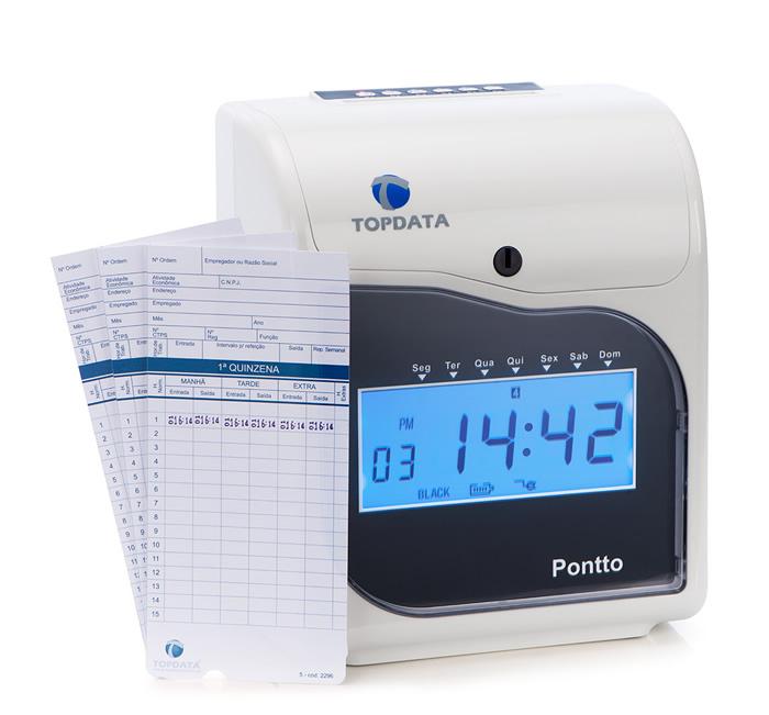 Relógio de Ponto Cartográfico Pontto 4 Topdata  - Iponto Tecnologia