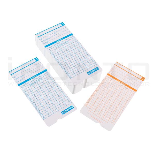 Cartão de Ponto para Dataprint Diponto  - Caixa com 100 unid.  - Iponto Tecnologia