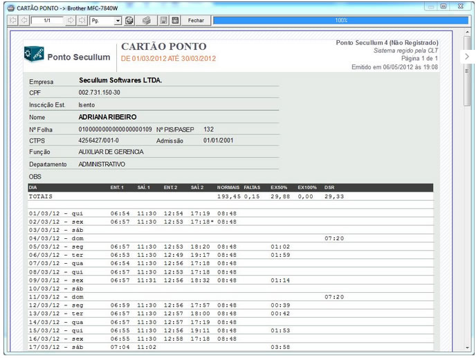 Relógio de Ponto REP iDClass Mult Control iD + Ponto Secullum 4  - Iponto Tecnologia