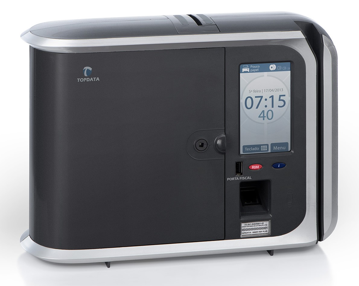 Relógio de Ponto Inner Rep Plus Bio Prox LC Topdata + Ponto Secullum 4  - Iponto Tecnologia
