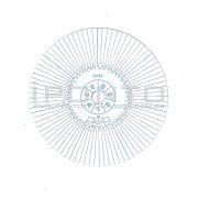 Disco para Relógio de Vigia Relovoux 84 Horas - Caixa com 50 unid - Cód 875N - Diâmetro 77mm