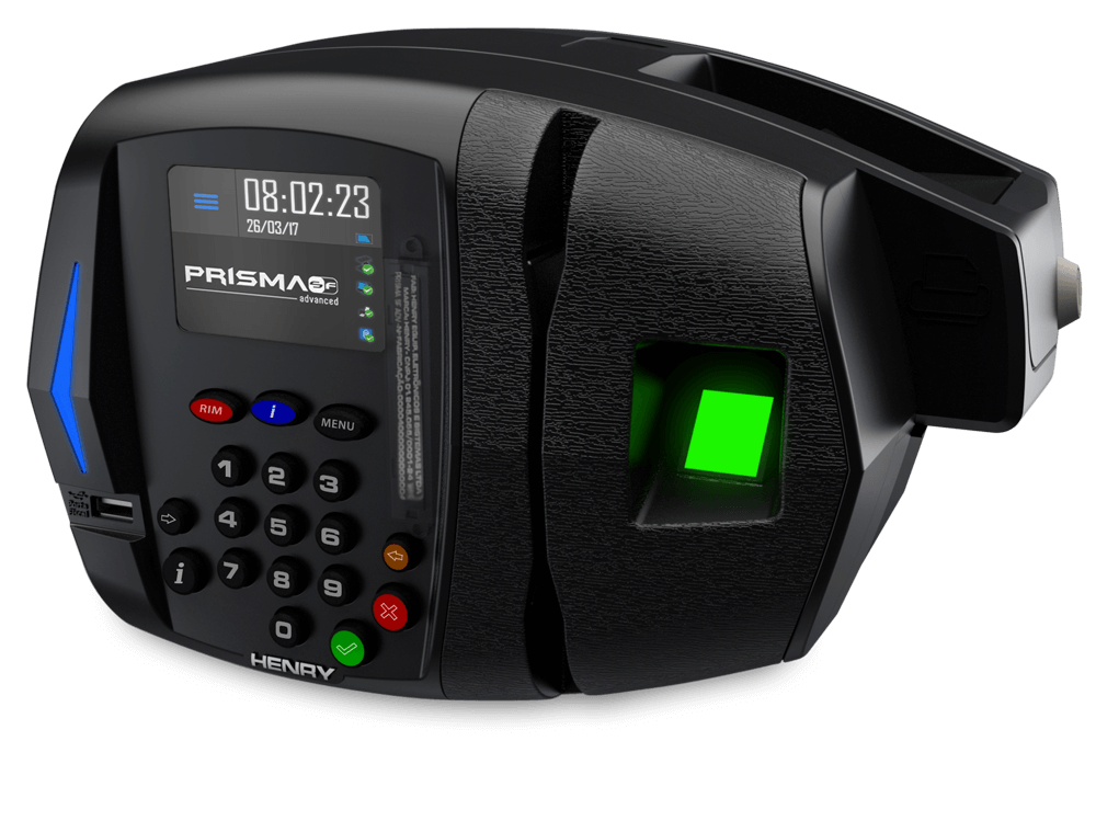 Relógio de Ponto REP Prisma Super Fácil Advanced R2 Bio Prox Henry + Ponto Secullum 4  - Iponto Tecnologia