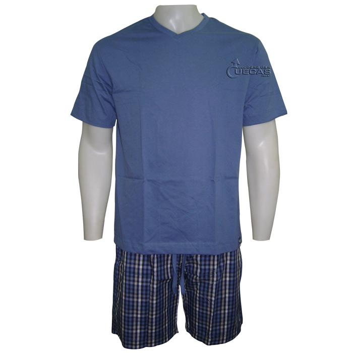 Pijama Fitswell Decote V Malha Bermuda Tricoline - 11207