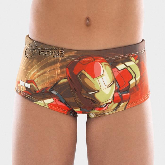 Sunga Infantil Iron Man 3 C/Vivo Lateral - IM3.01