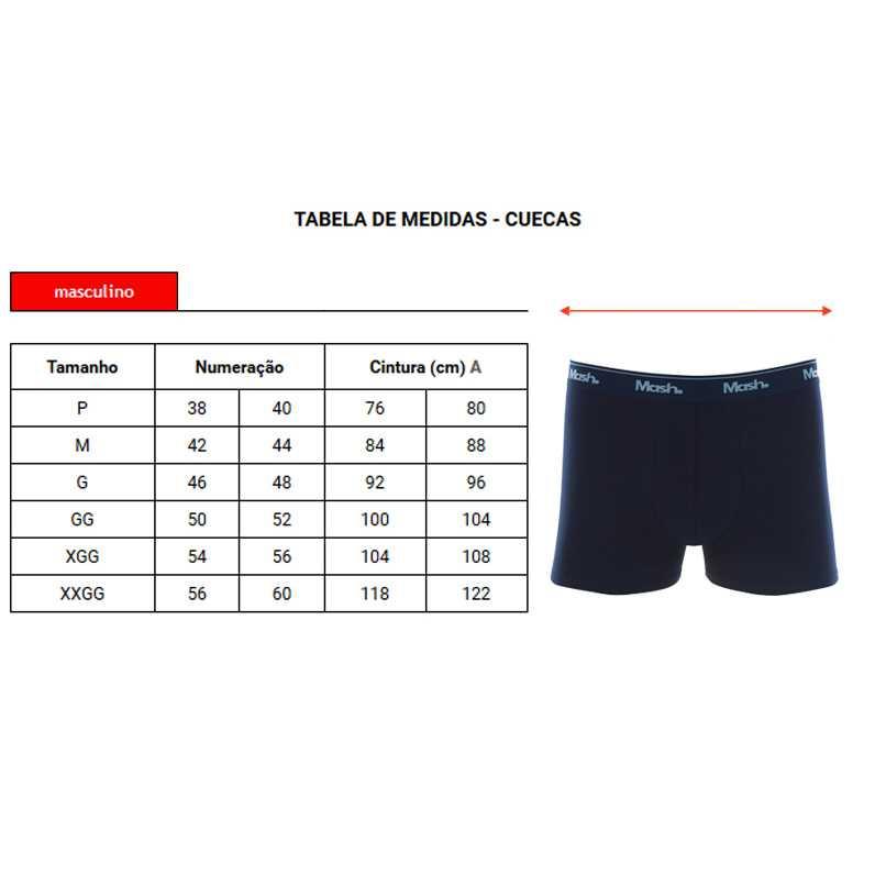 Cueca Mash Boxer Cotton Basic - 170.26