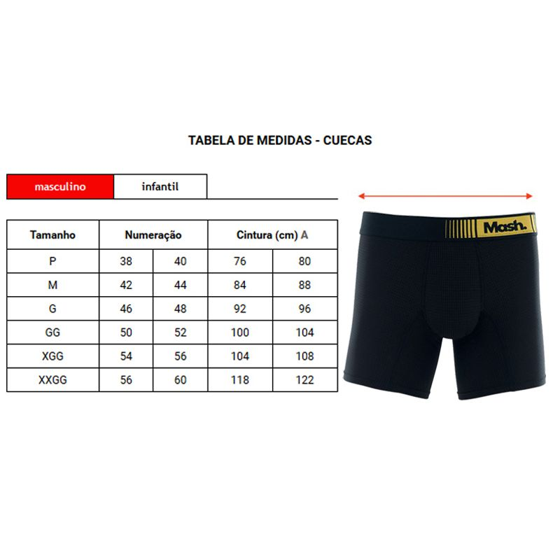Cueca Mash Boxer Longa Microfibra Active - 140.03