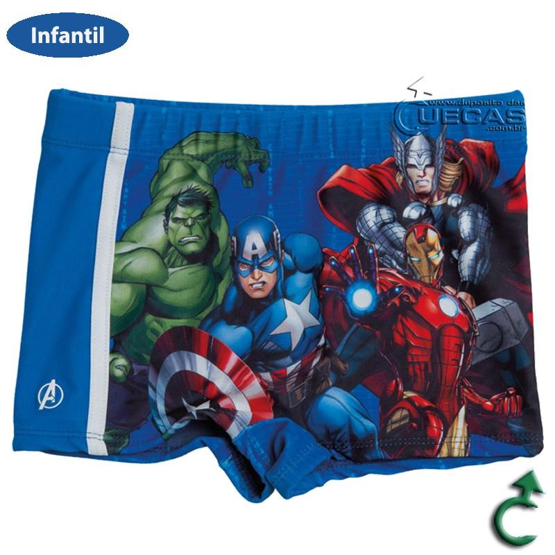 Sunga Boxer Infantil Avengers C/ Galão - AV3.04