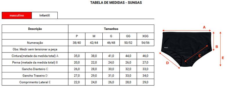 Sunga Boxer Mash C/ Recorte e Vivo Contrastante - 300.28