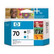 Cabe�a de impress�o HP 70 C9404A Matte Black and Cyan - Casa Print Brasil