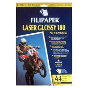 Papel A4 Filipaper impressora Laser Glossy 180g  Profissional 30 Folhas