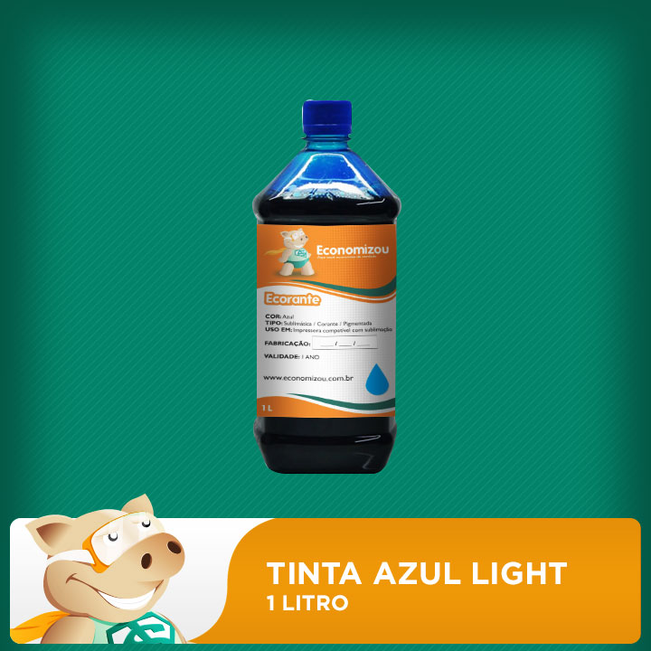 1 Litro Tinta Corante Epson Azul Light (Cyan Light)  - ECONOMIZOU