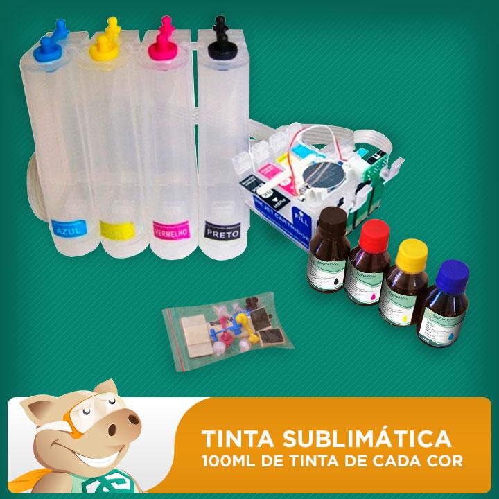 Bulk Ink Epson T25 - TX123 - TX125 - TX133 - TX135 Tinta Sublimática  - ECONOMIZOU