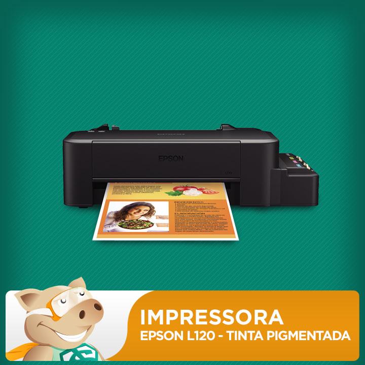 Impressora Epson L120 c/ Bulk + 160ml Tinta Pigmentada  - ECONOMIZOU