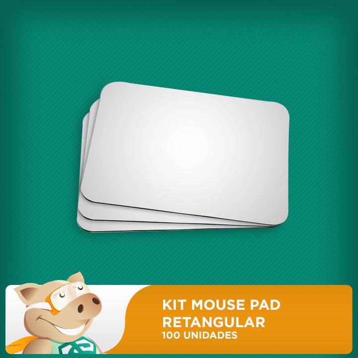 Kit Mouse Pad para Sublimação Retangular 18x22cm (100 Unidades)  - ECONOMIZOU