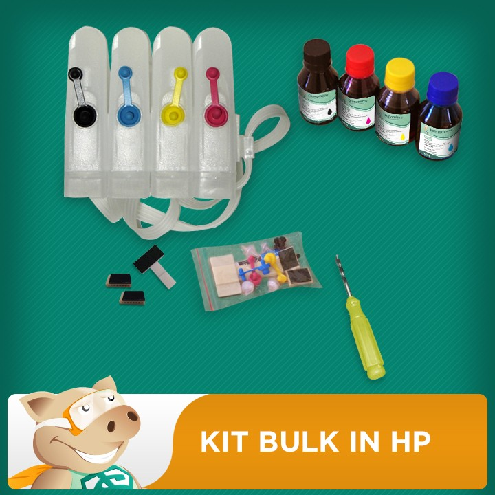 Bulk HP + 400ML Tinta + Video + Verruma  - ECONOMIZOU