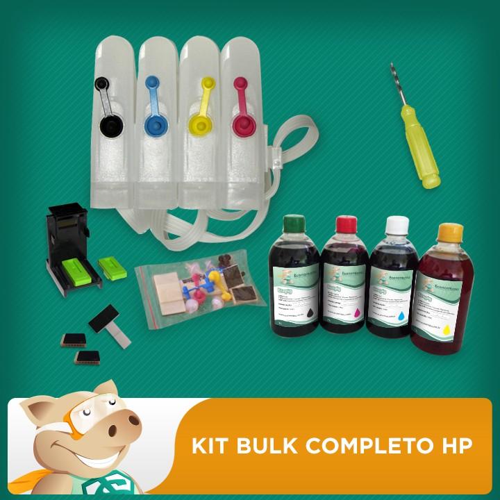 Bulk Completo HP + 2L de Tinta + Video + Verruma + Snapfill  - ECONOMIZOU
